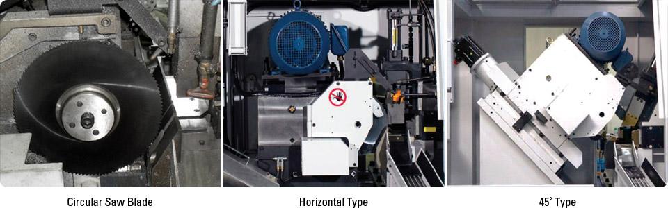 옵션: Circular saw blade, Horizontal Type, 45˚ Type