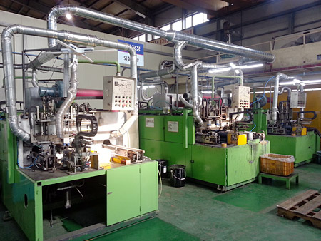 Outer coating line